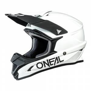 ONeal 1 Series Solid White Motocross Helmet
