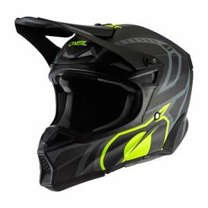 ONeal 10 Series Carbon Racer Black Neon Yellow Motocross Helmet