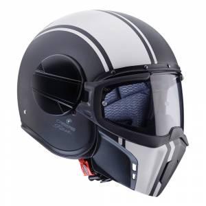 Caberg Ghost Legend Matt Black White Open Face Helmet