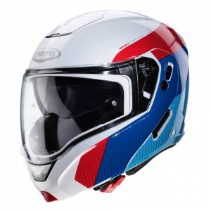 Caberg Horus Scout White Red Blue Flip Up Helmet