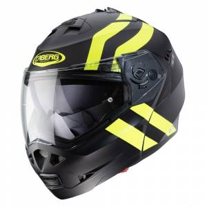 Caberg Duke II Super Legend Matt Black Yellow Fluo Flip Up Helmet