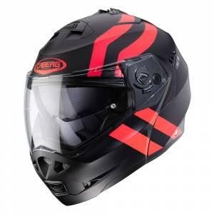 Caberg Duke II Super Legend Matt Black Red Fluo Flip Up Helmet