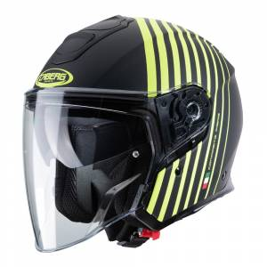 Caberg Flyon Bakari Matt Black Yellow Open Face Helmet