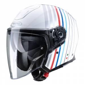 Caberg Flyon Bakari White Silver Open Face Helmet