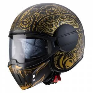 Caberg Ghost Maori Matt Black Gold Open Face Helmet