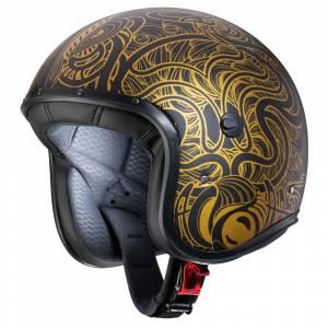 Caberg Freeride Maori Matt Black Gold Open Face Helmet
