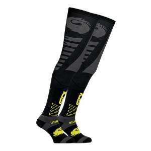 Sidi Black Yellow Extra Long Off-Road Socks