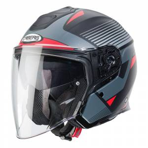 Caberg Flyon Rio Matt Black Red Anthracite Silver Open Face Helmet