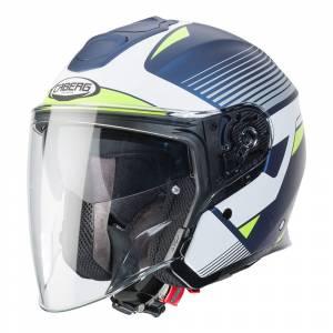 Caberg Flyon Rio Matt Blue White Yellow Silver Open Face Helmet