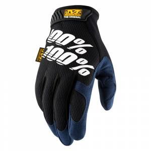 100% Mechanic Original Black Motocross Gloves