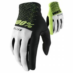 100% Celium Fluo Yellow Motocross Gloves