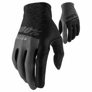 100% Celium Black Grey Motocross Gloves