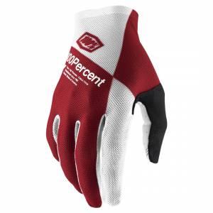100% Celium Cherry Silver Motocross Gloves