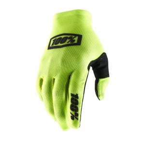 100% Celium 2 Fluo Yellow Black Motocross Gloves