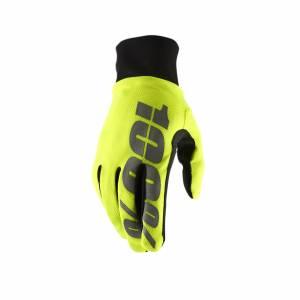 100% Hydromatic Neon Yellow Waterproof Motocross Gloves