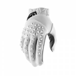 100% Airmatic White Motocross Gloves
