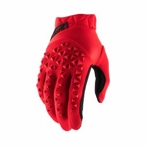 100% Airmatic Red Black Motocross Gloves