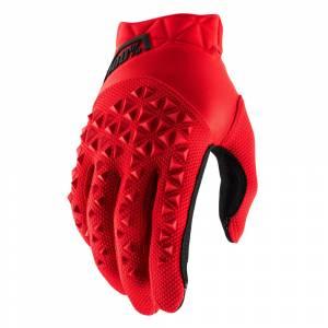 100% Kids Airmatic Red Black Motocross Gloves