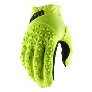 100% Kids Airmatic Yellow Fluo Black Motocross Gloves