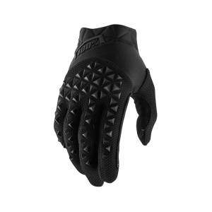 100% Airmatic Black Charcoal Motocross Gloves