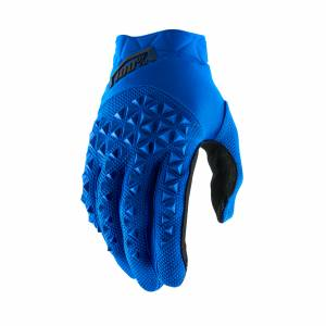 100% Airmatic Blue Black Motocross Gloves