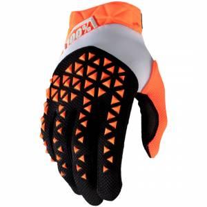 100% Airmatic Orange Black Motocross Gloves
