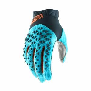 100% Airmatic Steel Grey Ice Blue Bronze Motocross Gloves