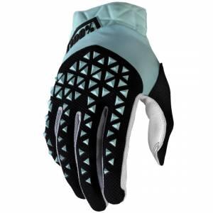 100% Airmatic Sky Blue Black Motocross Gloves