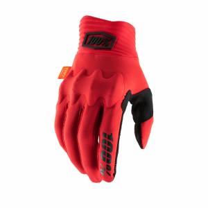 100% Cognito Red Black Motocross Gloves