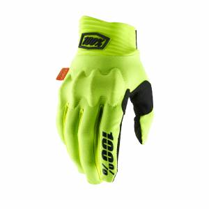 100% Cognito Fluo Yellow Black Motocross Gloves
