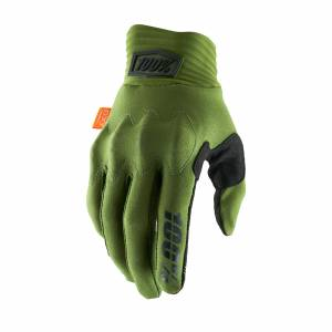 100% Cognito Army Green Black Motocross Gloves