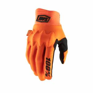 100% Cognito Fluo Orange Black Motocross Gloves
