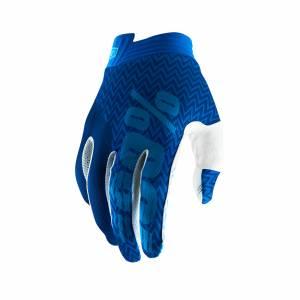 100% iTrack Blue Navy Motocross Gloves