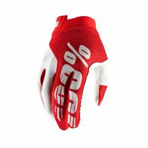 100% iTrack Red White Motocross Gloves