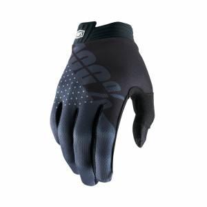 100% iTrack Black Charcoal Motocross Gloves