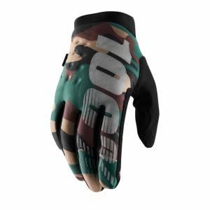 100% Brisker Camo Black Cold Weather Motocross Gloves
