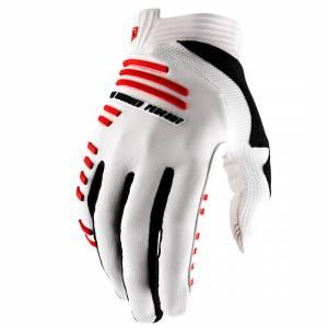 100% R-Core White Motocross Gloves