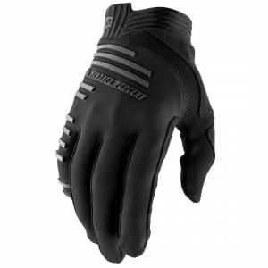 100% R-Core Black Motocross Gloves