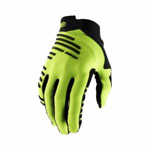 100% R-Core Fluo Yellow Motocross Gloves
