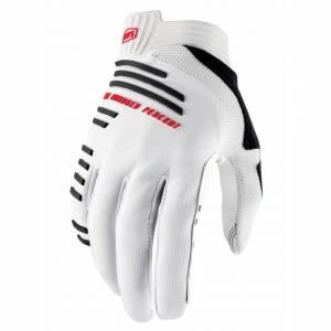 100% R-Core Silver Motocross Gloves