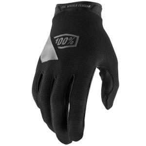 100% Ridecamp Black Motocross Gloves