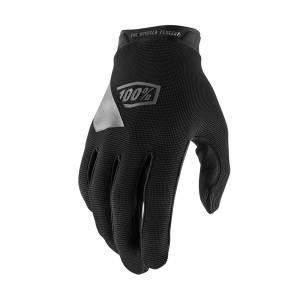 100% Kids Ridecamp Black Motocross Gloves