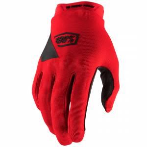 100% Ridecamp Red Motocross Gloves