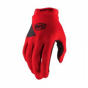 100% Kids Ridecamp Red Motocross Gloves