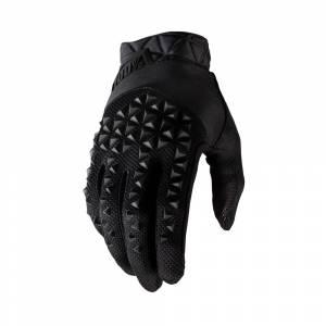 100% Geomatic Black Motocross Gloves