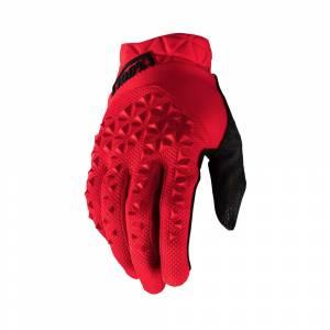 100% Geomatic Red Motocross Gloves