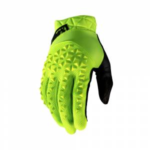 100% Geomatic Fluo Yellow Motocross Gloves