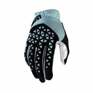 100% Geomatic Sky Blue Motocross Gloves