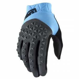 100% Geomatic Cyan Charcoal Motocross Gloves
