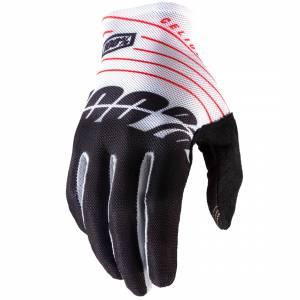 100% Celium Black White Motocross Gloves